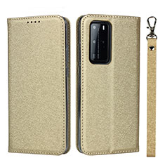 Leather Case Stands Flip Cover N12 Holder for Huawei P40 Pro Gold