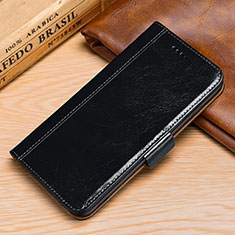 Leather Case Stands Flip Cover P01 Holder for Samsung Galaxy S9 Black