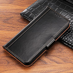 Leather Case Stands Flip Cover P04 Holder for Apple iPhone Xs Black