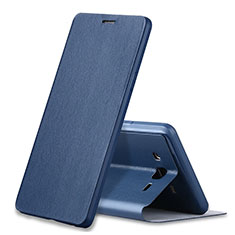 Leather Case Stands Flip Cover S01 for Samsung Galaxy On7 Pro Blue