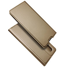 Leather Case Stands Flip Cover S01 Holder for Oppo Find X2 Pro Gold