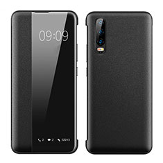 Leather Case Stands Flip Cover T01 Holder for Huawei P30 Black