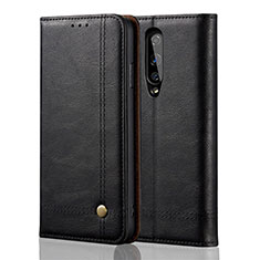 Leather Case Stands Flip Cover T01 Holder for OnePlus 8 Black