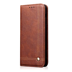Leather Case Stands Flip Cover T01 Holder for OnePlus 8 Pro Brown