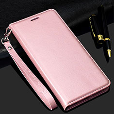 Leather Case Stands Flip Cover T01 Holder for Samsung Galaxy S20 Plus 5G Rose Gold