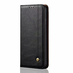 Leather Case Stands Flip Cover T01 Holder for Xiaomi Mi 10 Pro Black