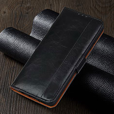Leather Case Stands Flip Cover T01 Holder for Xiaomi Redmi Note 9 Pro Black