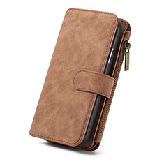 Leather Case Stands Flip Cover T02 Holder for Apple iPhone XR Orange