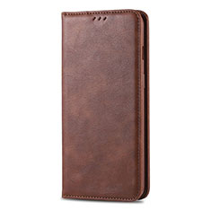 Leather Case Stands Flip Cover T02 Holder for Huawei Honor 20 Lite Brown
