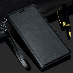 Leather Case Stands Flip Cover T02 Holder for Samsung Galaxy S20 Black
