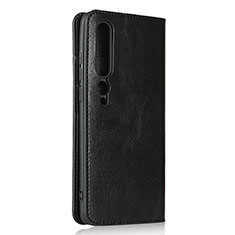Leather Case Stands Flip Cover T02 Holder for Xiaomi Mi 10 Pro Black