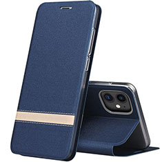 Leather Case Stands Flip Cover T03 Holder for Apple iPhone 11 Blue