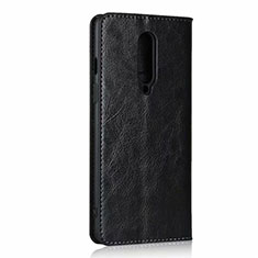 Leather Case Stands Flip Cover T03 Holder for OnePlus 8 Black