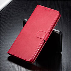 Leather Case Stands Flip Cover T03 Holder for Samsung Galaxy A90 4G Red