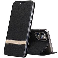 Leather Case Stands Flip Cover T04 Holder for Apple iPhone 11 Pro Max Black