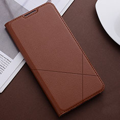Leather Case Stands Flip Cover T04 Holder for Huawei Honor 20 Lite Brown