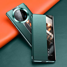 Leather Case Stands Flip Cover T04 Holder for Huawei Mate 40 Pro Green