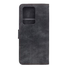 Leather Case Stands Flip Cover T04 Holder for Huawei P40 Pro+ Plus Black