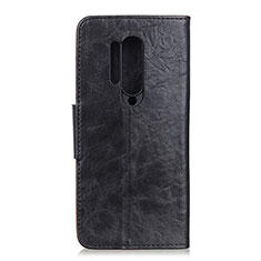 Leather Case Stands Flip Cover T04 Holder for OnePlus 8 Pro Black