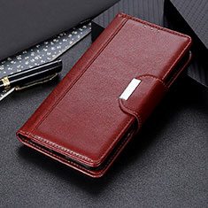 Leather Case Stands Flip Cover T05 Holder for OnePlus 8 Pro Brown