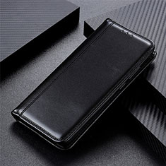 Leather Case Stands Flip Cover T05 Holder for Oppo Reno4 5G Black