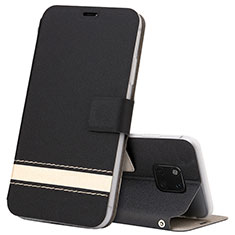 Leather Case Stands Flip Cover T06 Holder for Huawei Mate 20 Pro Black