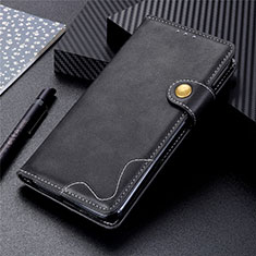 Leather Case Stands Flip Cover T06 Holder for Huawei P Smart (2020) Black
