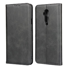 Leather Case Stands Flip Cover T06 Holder for OnePlus 7T Pro Black