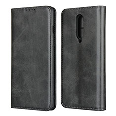 Leather Case Stands Flip Cover T06 Holder for OnePlus 8 Black