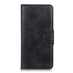 Leather Case Stands Flip Cover T06 Holder for OnePlus 8 Pro Black