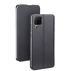 Leather Case Stands Flip Cover T07 Holder for Huawei P40 Lite Black