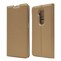 Leather Case Stands Flip Cover T07 Holder for OnePlus 7T Pro Gold