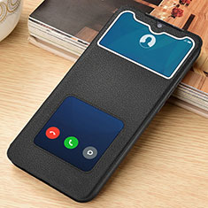 Leather Case Stands Flip Cover T07 Holder for Xiaomi Redmi Note 8 Black