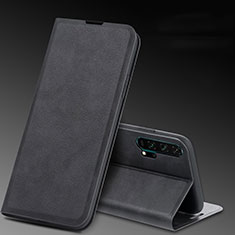 Leather Case Stands Flip Cover T08 Holder for Huawei Honor 20 Pro Black