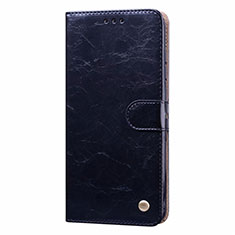 Leather Case Stands Flip Cover T08 Holder for Xiaomi Redmi Note 9 Black