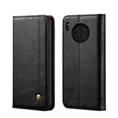 Leather Case Stands Flip Cover T09 Holder for Huawei Mate 30 Pro 5G Black