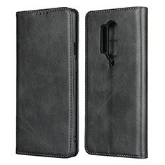 Leather Case Stands Flip Cover T09 Holder for OnePlus 8 Pro Black
