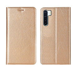 Leather Case Stands Flip Cover T09 Holder for Oppo Find X2 Lite Gold