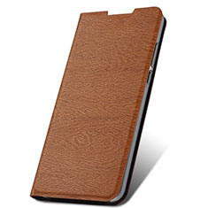 Leather Case Stands Flip Cover T09 Holder for Xiaomi Redmi Note 8 Pro Brown