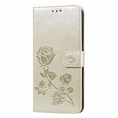 Leather Case Stands Flip Cover T09 Holder for Xiaomi Redmi Note 9 Gold