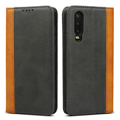Leather Case Stands Flip Cover T10 Holder for Huawei P30 Black