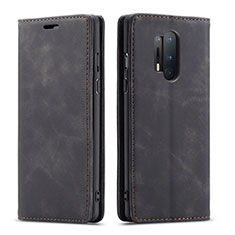 Leather Case Stands Flip Cover T10 Holder for OnePlus 8 Pro Black