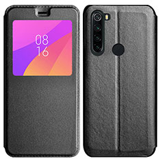 Leather Case Stands Flip Cover T11 Holder for Xiaomi Redmi Note 8 Black