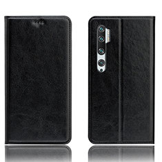Leather Case Stands Flip Cover T12 Holder for Xiaomi Mi Note 10 Black