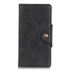 Leather Case Stands Flip Cover T12 Holder for Xiaomi Poco M3 Black