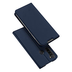 Leather Case Stands Flip Cover T12 Holder for Xiaomi Redmi Note 8 Blue