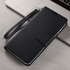 Leather Case Stands Flip Cover T15 Holder for Xiaomi Mi Note 10 Black