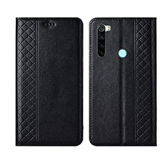 Leather Case Stands Flip Cover T16 Holder for Xiaomi Redmi Note 8 Black