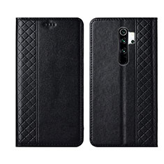 Leather Case Stands Flip Cover T16 Holder for Xiaomi Redmi Note 8 Pro Black