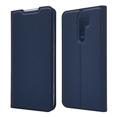 Leather Case Stands Flip Cover T18 Holder for Xiaomi Redmi Note 8 Pro Blue